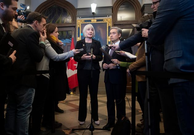 Patty Hajdu responds to a question about the coronavirus on Jan. 29, 2020 in