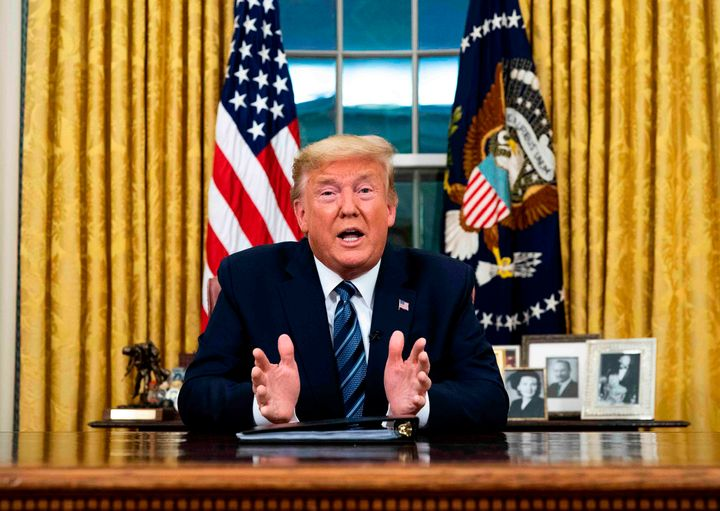 President Donald Trump suspended all travel from Europe on Wednesday night, hour after the World Health Organization declared the coronavirus known as COVID-19 a pandemic.