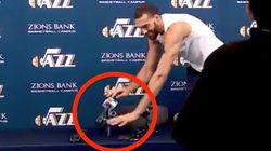 NBA Star With Coronavirus Rudy Gobert Touched Every Reporter's Mic As A