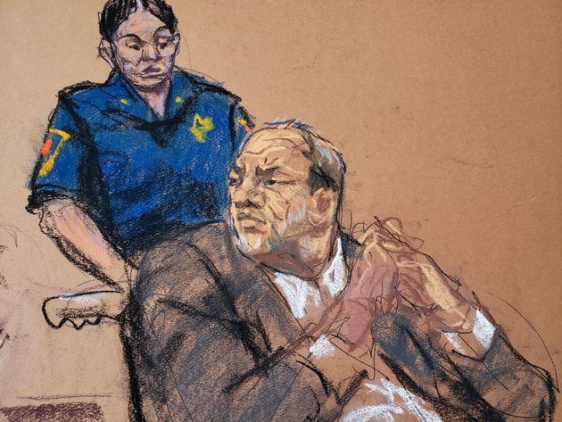 ワインスタイン被告の法廷画