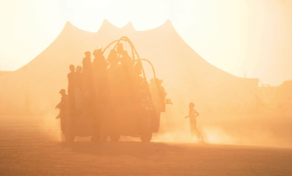 """At Burning Man, beautiful synchronicities arise. Once when I was exhausted, I said to my friend Christie, """"I wish we could ri"""