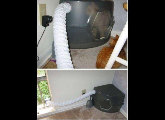 "Vented Litter Box<a href=""http://www.instructables.com/id/Cat-Litter-Box-Odor-Eliminator-Fan-FlowCat/"" target=""_hplink"">SOURC"
