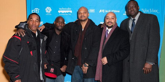 NEW YORK, NY - NOVEMBER 15:  (L-R) Korey Wise, Antron McCray, Kevin Richardson, Raymond Santana, and Yusef Salaam attend the