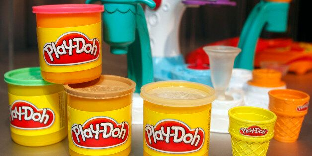 UNITED STATES - FEBRUARY 15:  A Hasbro Inc. Play-Doh set is displayed at the Hasbro New York Toy Fair 2008 in New York, U.S.,