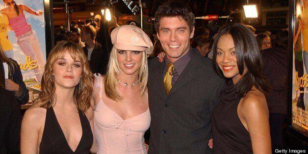 Taryn Manning, Britney Spears, Anson Mount & Zoe Saladana  (Photo by Jeff Kravitz/FilmMagic)