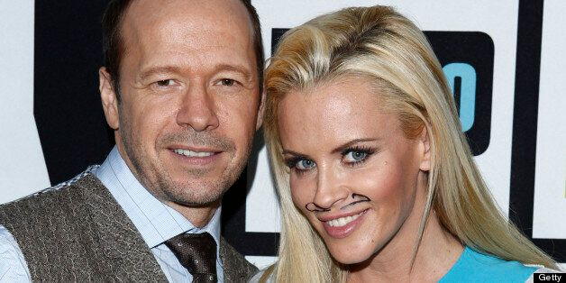 WATCH WHAT HAPPENS LIVE -- Episode 818 -- Pictured: (l-r) Donnie Wahlberg, Jenny McCarthy -- (Photo by: Peter Kramer/Bravo/NB