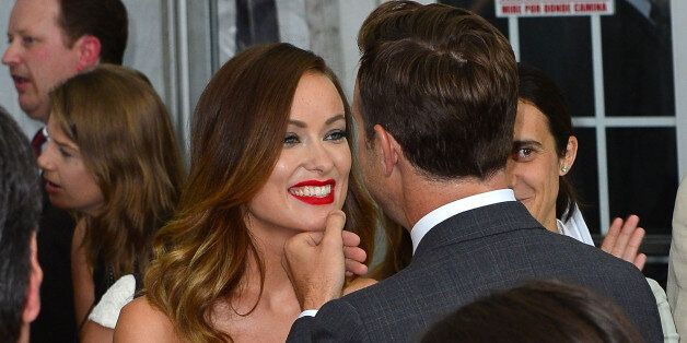 NEW YORK, NY - AUGUST 01: Olivia Wilde and Jason Sudeikis attend the 'We're The Millers' New York Premiere at Ziegfeld Theater on August 1, 2013 in New York City. (Photo by James Devaney/WireImage)