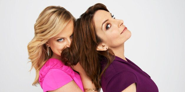THE GOLDEN GLOBE AWARDS -- 70th Annual Golden Globe Awards -- Pictured: (l-r) Hosts, Amy Poehler, Tina Fey -- (Photo by: Gavi