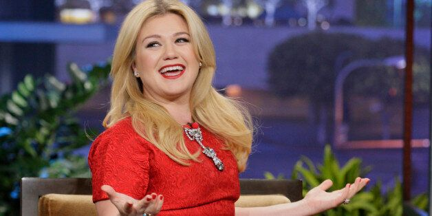 THE TONIGHT SHOW WITH JAY LENO -- Episode 4564 -- Pictured: Singer Kelly Clarkson during an interview on November 11, 2013 --