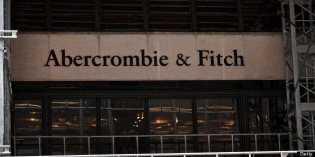 Abercrombie & Fitch Co. signage is displayed outside of a store in New York, U.S., on Tuesday, Aug. 16, 2011. Abercrombie & F