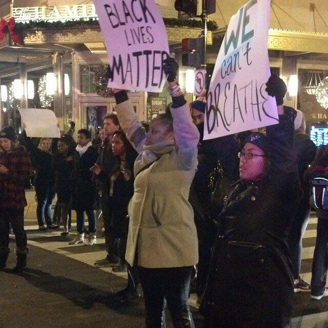 Protestors march in Washington, D.C., on Thursday..