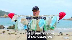 Les masques contre le coronavirus, nouvelle pollution sur les plages