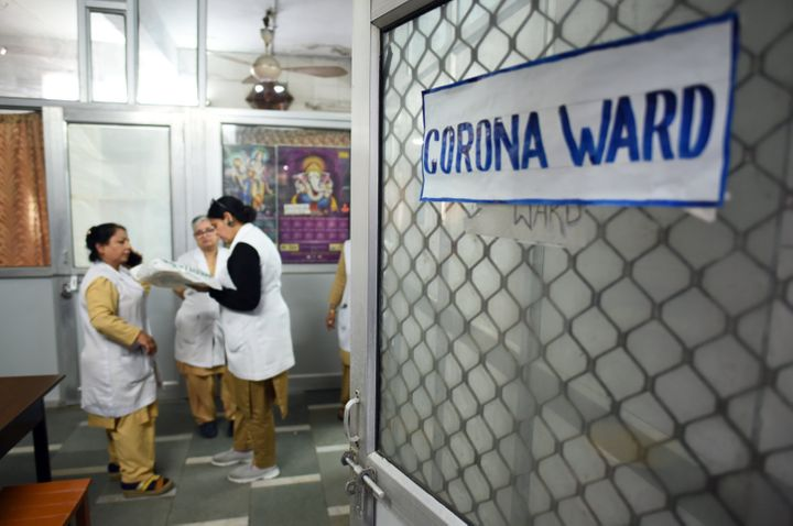 A view of the specialized coronavirus ward set up inside Hindu Rao Hospital, at Civil Lines on March 11, 2020 in New Delhi, India.