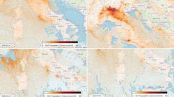 In un mese ridotto lo smog in Nord Italia: le immagini del primo e