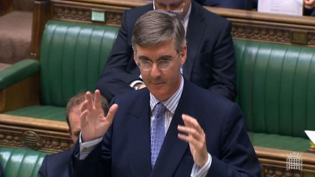 Newly installed Leader of the House of Commons Jacob Rees Mogg speaks in the House of Commons,