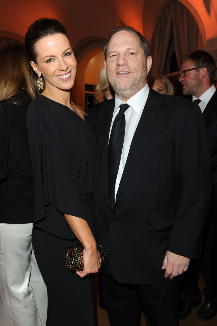 Kate Beckinsale and Harvey Weinstein attend the Vanity Fair and Gucci Party Honoring Martin Scorsese during the 63rd Annual C