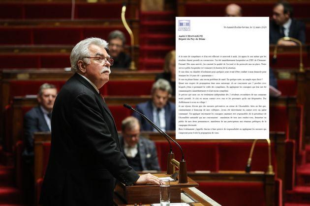 André Chassaigne à la tribune de l'Assemblée nationale