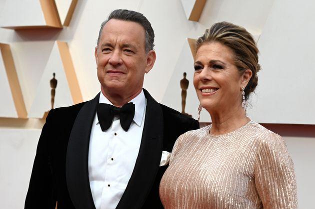 Astro vencedor do Oscar, Tom Hanks está com a esposa, Rita Wilson, na Austrália para a...