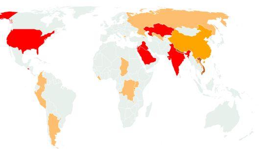 Face au coronavirus, la carte des restrictions imposées aux Français selon leur