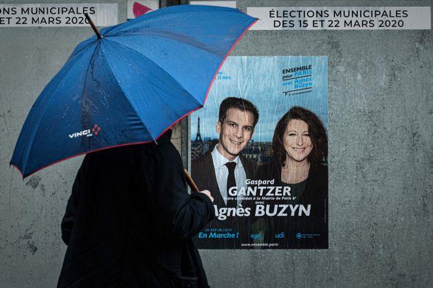 Affiche électorale pour La République en Marche dans le 6e arrondissement à