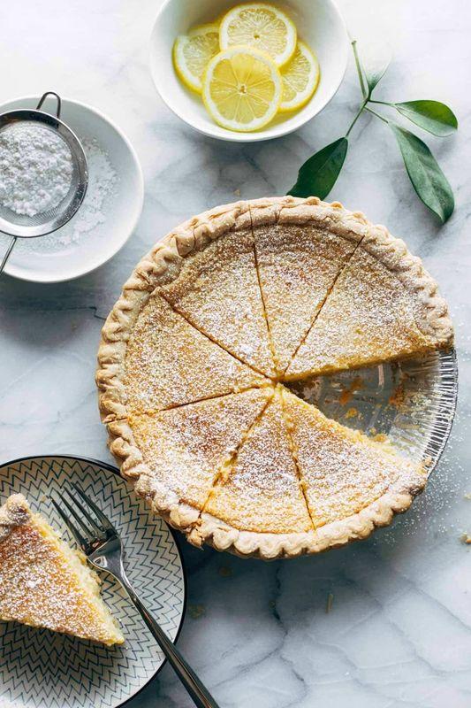 Get the Blender Lemon Pie recipe from Pinch of Yum