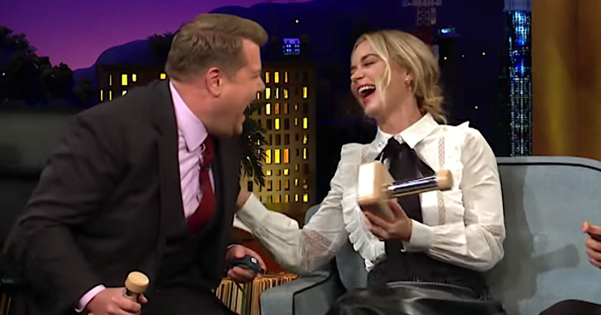 Emily Blunt And James Corden Electric-Shock Each Other For No Good Reason