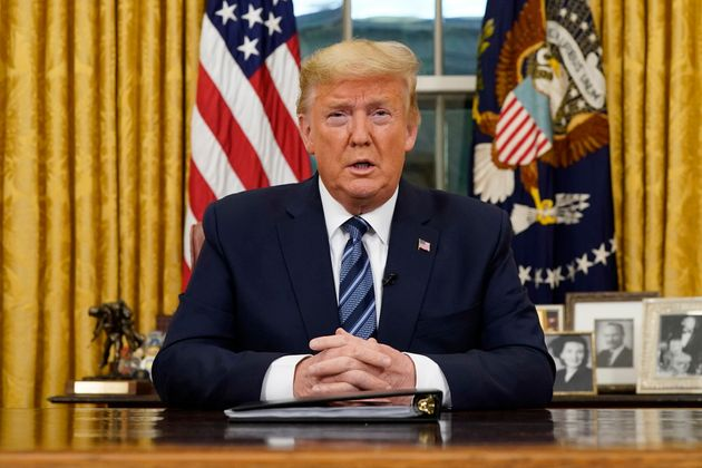 President Donald Trump addressing the nation about the coronavirus outbreak on Wednesday