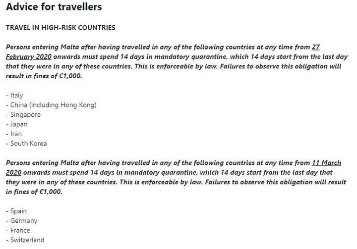 Avisos de multas en Malta.