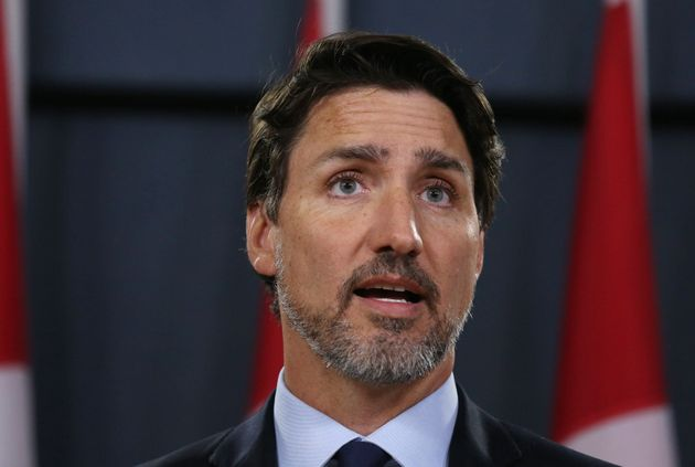 Canadian Prime Minister Justin Trudeau speaks during a news conference January 8, 2020 in Ottawa, Canada....