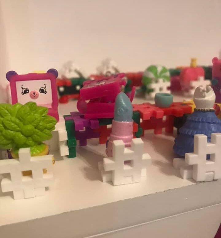 Christie Pham shared a photo of her daughter's Shopkins lined up to wash their hands at the sink due to the