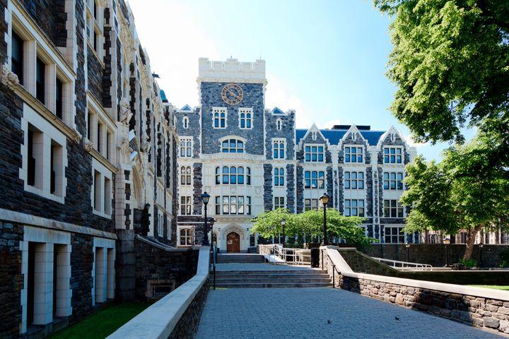 New York, NY, USA - June 1, 2013: City College, City University of New York: City College campus, City University of New York