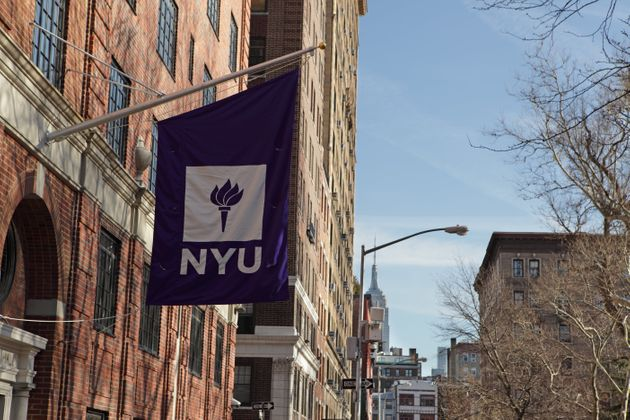 New York, MY, USA - March 22, 2016: New York University buildings on Macdougal Street at 37 Washington...