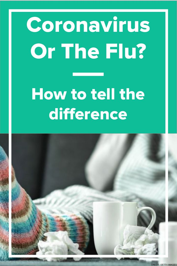 How to tell the difference between the new coronavirus and the flu