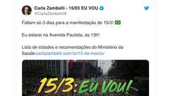 Bolsonaristas ignoram orientação de evitar aglomerações e estimulam manifestações do dia