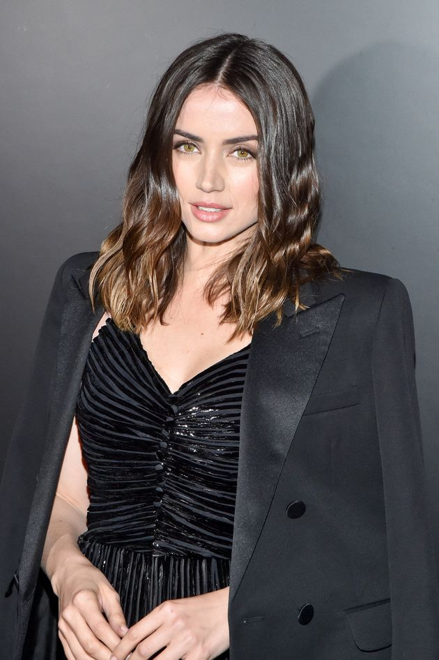 Ana de Armas attends the Saint Laurent show on Feb. 25 in