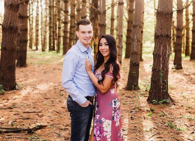 Elena Harvey and her partner.