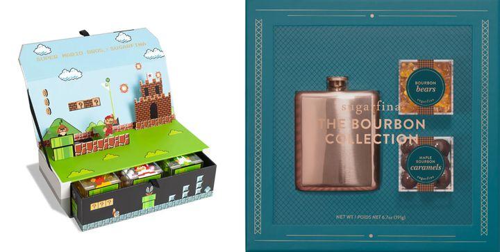 (왼쪽부터) 슈퍼마리오 한정판 캔디 컬렉션, 버번 컬렉션