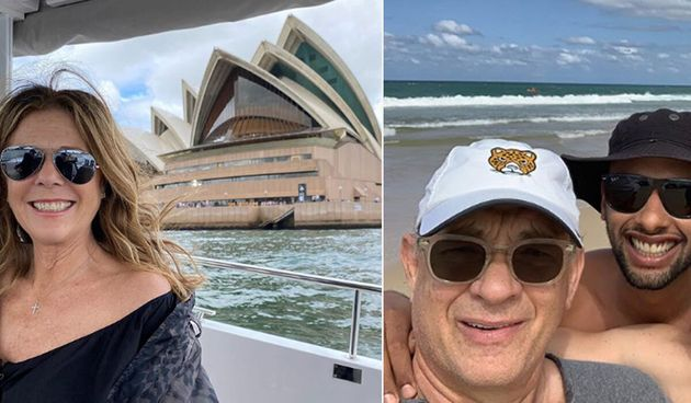 Tom Hanks has travelled to QLD and NSW hotspots while visiting