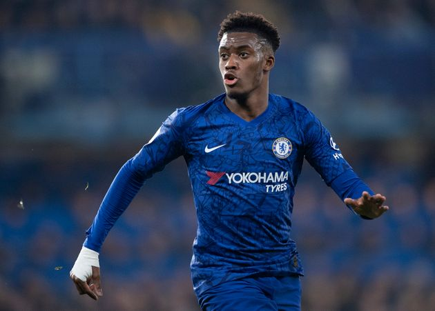 LONDON, ENGLAND - JANUARY 21: Callum Hudson-Odoi of Chelsea during the Premier League match between Chelsea...