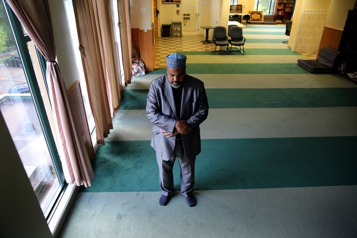 Imam Mohamed Magid prays at the mosque of All Dulles Area Muslim Society (ADAMS) in Sterling, Virginia, on May 19, 2016.