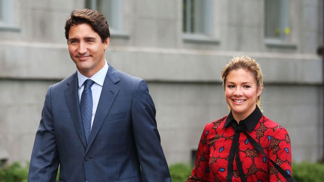Justin Trudeau doit rester à l'isolement, sa femme Sophie Grégorie Trudeau (ici en septembre...