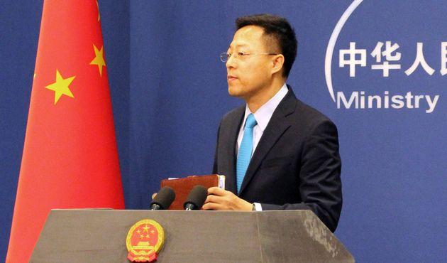 Zhao Lijian, ici le 24 février à Pékin, a émis l'hypothèse que le...