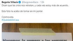 Begoña Villacís comparte el cartel que ha visto en su portal en plena crisis por el coronavirus:
