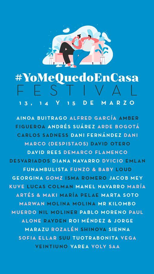 Cartel del #YoMeQuedoEnCasa