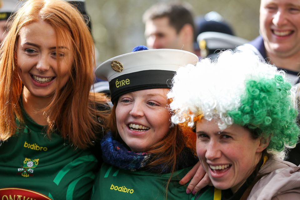 Revellers during the 2019 St Patrick's Day celebration in