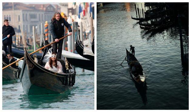 Απόκοσμες εικόνες δείχνουν το πριν και το μετά διάσημων προορισμών που εκκενώθηκαν λόγω του