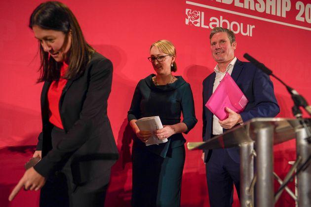 (L-R) Lisa Nandy, Rebecca Long-Bailey and Sir Keir