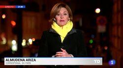 Indignación por lo que ha grabado la corresponsal de TVE en París en plena crisis del