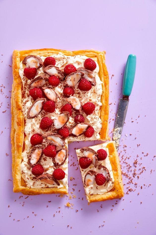 Creme Egg & Raspberry Tart