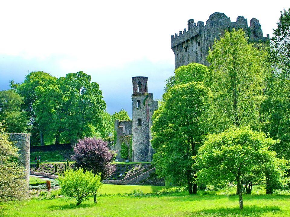 Cork, Ireland - May 30, 2012: Blarney Castle is a medieval castle near Cork, Ireland. The castle is famous...